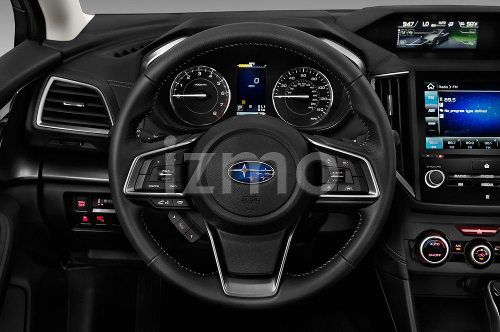 Car pictures of steering wheel view of a 2018 Subaru Impreza 2.0i-Limited-CVT-PZEV 4 Door Sedan Steering Wheel