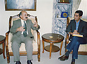 Iraq 2003 <br /> Nechirvan Ahmed receiving Edouard Lagourgue, in charge of a French NGO <br /> Irak 2003 <br /> Nechirvan Ahmed recevant Edouard Lagourgue, responsable d'une ONG francaise