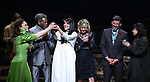 Amber Gray, Andre De Shields, Rachel Clavkin, Anais Mitchell, David Neumann, Eva Noblezada during Broadway Opening Night Performance Curtain Call for 'Hadestown' at the Walter Kerr Theatre on April 17, 2019 in New York City.