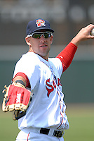 OF Ryan Kalish of the Portland Sea Dogs prior to the game vs. the New Britain Rock Cats at Hadlock Field in Portland, Maine on May 31, 2010 (Photo by Ken Babbitt/Four Seam Images)