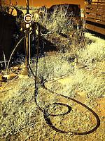 Old gas pump at farm