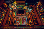 """Pictured: Tens of thousands of Hindu worshipers gather on dozens of floors to celebrate Rakher Upobash, last night, (Tuesday 10th), a fasting festival at Lokenath Brahmachari Temple in Dhaka , Bangladesh.<br /> <br /> The festival is held on every Saturday and Tuesday during the last 15 days in the month of """"Kartik"""" in the Bengali calendar.<br /> <br /> Lighting small lamps, also known as Prodips, and special incense, Hindu worshipers fast and pray in earnest to the gods for favours during this  traditional ritual called Kartik Brati or Rakher Upobash. <br /> <br /> Lokenath Brahmachari, mostly known as Baba Lokenath, was an 18th Century Hindu saint and philosopher in Bengal.<br /> <br /> Please byline: Ratul Dhar/Solent News<br /> <br /> © Ratul Dhar/Solent News & Photo Agency<br /> UK +44 (0) 2380 458800"""