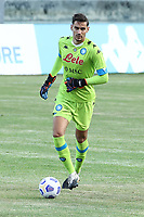 Alex Meret of SSC Napoli during the friendly football match between SSC Napoli and Castel di Sangro Cep 1953 at stadio Patini in Castel di Sangro, Italy, August 28, 2020. <br /> Photo Cesare Purini / Insidefoto