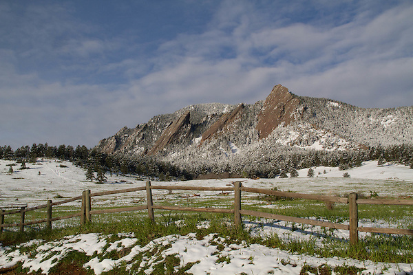 Spring snowstorm in Boulder, Colorado, USA. .  John leads private photo tours in Boulder and throughout Colorado. Year-round Boulder photo tours.