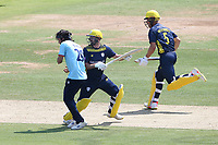 Ian Holland of Hampshire collides with Shane Snater during Hampshire Hawks vs Essex Eagles, Royal London One-Day Cup Cricket at The Ageas Bowl on 22nd July 2021