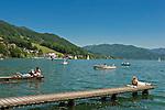 Austria, Upper Austria, Salzkammergut, Mondsee: resort and lake of the same name | Oesterreich, Oberoesterreich, Salzkammergut, Mondsee: Ort und gleichnamiger See im Salzkammergut