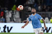 30th September 2021;  Stadio Olimpico, Rome, Italy;Europa League Football, SS Lazio versus Lokomotiv Moscow: Elseid Hysaj of SS Lazio