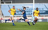 13th September 2020; AJ Bell Stadium, Salford, Lancashire, England; English Premiership Rugby, Sale Sharks versus Bath;  AJ MacGinty of Sale Sharks kicks for the corner