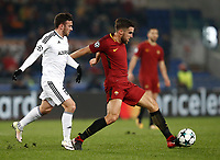 Football Soccer: UEFA Champions League AS Roma vs Qarabag FK Stadio Olimpico Rome, Italy, December 5, 2017. <br /> Roma's Kevin Strootman (r) in action with Qarabag's Gara Garayev (l) during the Uefa Champions League football soccer match between AS Roma and Qarabag FK at at Rome's Olympic stadium, December 05, 2017.<br /> UPDATE IMAGES PRESS/Isabella Bonotto