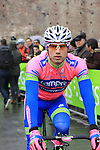 Massimo Graziato (ITA) Lampre-Merida at the sign on before the start of the 104th edition of the Milan-San Remo cycle race at Castello Sforzesco in Milan, 17th March 2013 (Photo by Eoin Clarke 2013)