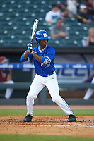 Kennie Taylor (15) of the Duke Blue Devils at bat against the Florida State Seminoles in the first semifinal of the 2017 ACC Baseball Championship at Louisville Slugger Field on May 27, 2017 in Louisville, Kentucky. The Seminoles defeated the Blue Devils 5-1. (Brian Westerholt/Four Seam Images)