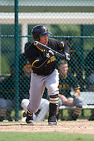 Pittsburgh Pirates Connor Joe (13) during an instructional league intrasquad black and gold game on September 23, 2015 at Pirate City in Bradenton, Florida.  (Mike Janes/Four Seam Images)