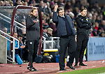 Hearts v St Johnstone…26.01.19…   Tynecastle    SPFL<br />Craig Levein and Austin MacPhee<br />Picture by Graeme Hart. <br />Copyright Perthshire Picture Agency<br />Tel: 01738 623350  Mobile: 07990 594431