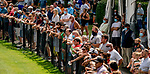 July 11, 2020: Fans flock to the fence to watch the Delaware Handicap on Delaware Handicap Day at Delaware Park in New Stanton, Delaware. Scott Serio/Eclipse Sportswire/CSM