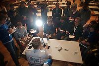 101st Scheldeprijs ..post-race press conference by winner: Marcel Kittel (DEU)