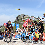 Jesus Herrada (ESP) Cofidis and Dani Navarro (ESP) Burgos-BH from the breakaway during Stage 14 of La Vuelta d'Espana 2021, running 165.7km from Don Benito to Pico Villuercas, Spain. 28th August 2021.     <br /> Picture: Unipublic/Charly Lopez   Cyclefile<br /> <br /> All photos usage must carry mandatory copyright credit (© Cyclefile   Charly Lopez/Unipublic)
