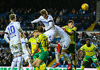 Leeds United's Patrick Bamford heads his side's only goal<br /> <br /> Photographer Alex Dodd/CameraSport<br /> <br /> The EFL Sky Bet Championship - Leeds United v Norwich City - Saturday 2nd February 2019 - Elland Road - Leeds<br /> <br /> World Copyright © 2019 CameraSport. All rights reserved. 43 Linden Ave. Countesthorpe. Leicester. England. LE8 5PG - Tel: +44 (0) 116 277 4147 - admin@camerasport.com - www.camerasport.com