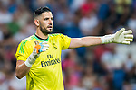 Goalkeeper Francisco Casilla Cortes, Kiko Casilla, of Real Madrid gestures during the Santiago Bernabeu Trophy 2017 match between Real Madrid and ACF Fiorentina at the Santiago Bernabeu Stadium on 23 August 2017 in Madrid, Spain. Photo by Diego Gonzalez / Power Sport Images