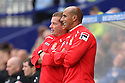 Stevenage manager Graham Westley (l) and Stevenage assistant manager Dino Maamria<br />  - Tranmere Rovers v Stevenage - Sky Bet League One - Prenton Park, Birkenhead - 7th September 2013. <br /> © Kevin Coleman 2013