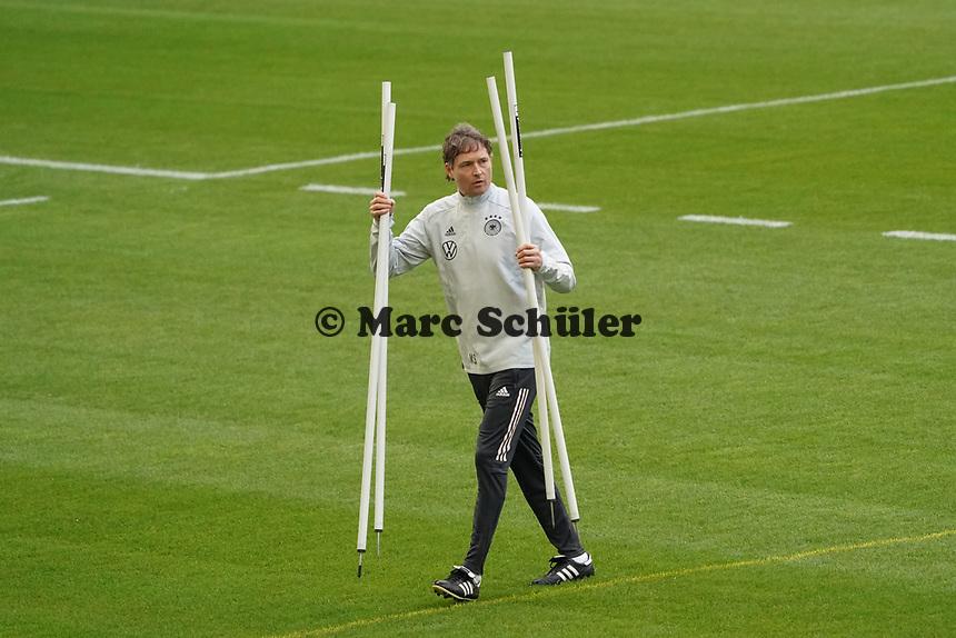 Co-Trainer Marcus Sorg (Deutschland Germany) - 23.03.2021: Training der Deutschen Nationalmannschaft vor dem WM-Qualifikationsspiel gegen Island, Merkus Spiel Arena Duesseldorf