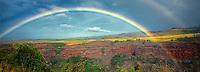 Hanapepe Valley with rainbow. Kauai, Hawaii.