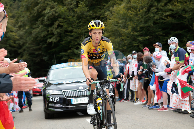 George Bennett (NZL) Team Jumbo-Visma climbs Col de Marie Blanque during Stage 9 of Tour de France 2020, running 153km from Pau to Laruns, France. 6th September 2020. <br /> Picture: Colin Flockton | Cyclefile<br /> All photos usage must carry mandatory copyright credit (© Cyclefile | Colin Flockton)