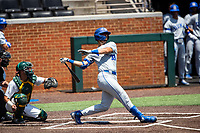Duke Blue Devils catcher Michael Rothenberg (38) at bat against the Wright State Raiders in NCAA Regional play on Robert M. Lindsay Field at Lindsey Nelson Stadium on June 5, 2021, in Knoxville, Tennessee. (Danny Parker/Four Seam Images)