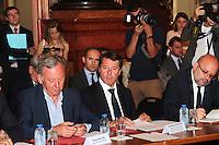 Christian Estrosi - Reunion avec les acteurs economiques de la ville de Nice et de la rÈgion PACA apres l'attentat de Nice.