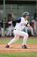 February 22, 2009:  Shortstop Brandon Wikoff (12) of the University of Illinois during the Big East-Big Ten Challenge at Naimoli Complex in St. Petersburg, FL.  Photo by:  Mike Janes/Four Seam Images