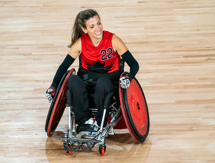 Melanie Labelle, Lima 2019 - Wheelchair Rugby // Rugby en fauteuil roulant.<br /> Canada takes on Argentina in wheelchair rugby // Le Canada affronte l'Argentine au rugby en fauteuil roulant. 23/08/2019.