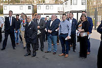 Friday 18th March 2016<br /> People attending the opening<br /> Official opening of the Swansea City Landore Academy which includes a 3rd floor classroom, an extension and an indoor training barn