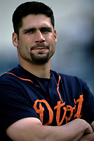 Bobby Higginson of the Detroit Tigers during a 2001 season MLB game at Angel Stadium in Anaheim, California. (Larry Goren/Four Seam Images)