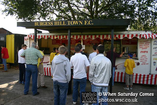 Burgess Hill Town 5 Epsom & Ewell FC 2, 13/09/2008. FA Cup. Photo by Tony Davis.