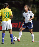 Joy Fawcett, USWNT vs Brazil.