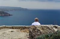 Blick von Marfa Ridge, Malta, Europa