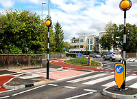 AUG 26 Britain's first cyclist priority roundabout