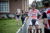 Tim Merlier (BEL/Corendon - Circus) post-finish<br /> <br /> Dwars door het Hageland 2019 (1.1)<br /> 1 day race from Aarschot to Diest (BEL/204km)<br /> <br /> ©kramon