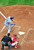 24 April 2010: Los Angeles Dodgers' center fielder Matt Kemp at bat against the Washington Nationals at Nationals Park in Washington, DC. The Dodgers edged out the Nationals 4-3. Mandatory Credit: Ed Wolfstein Photo
