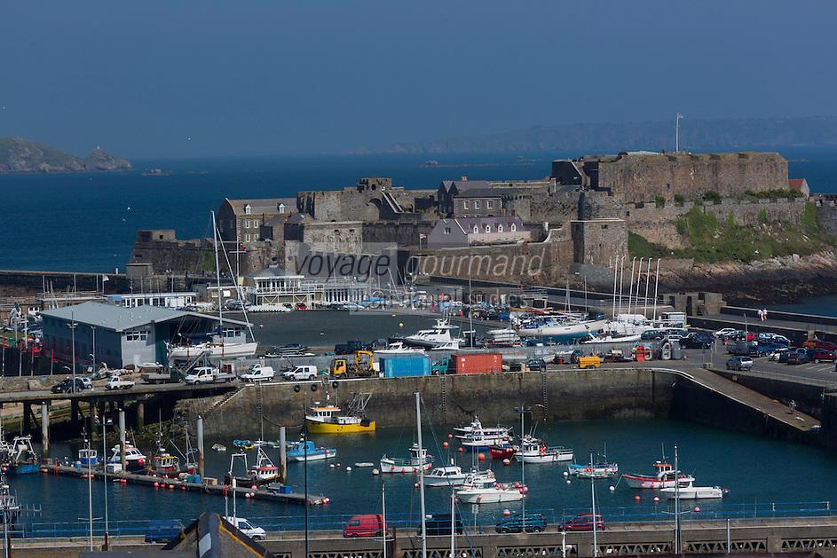 Royaume-Uni, îles Anglo-Normandes, île de Guernesey, Saint Peter Port: <br /> Castle Cornet// United Kingdom, Channel Islands, Guernsey island, Saint Peter Port: <br /> Castle Cornet