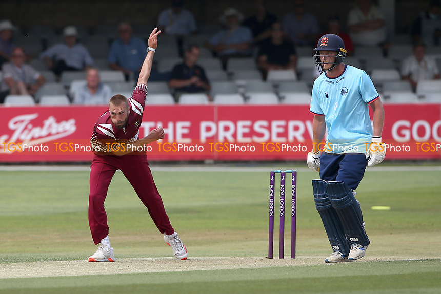 Ben Clilverd in bowling action for Cambridgeshire during Essex Eagles vs Cambridgeshire CCC, Domestic One-Day Cricket Match at The Cloudfm County Ground on 20th July 2021