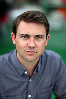 Sunday 25 May 2014, Hay on Wye, UK<br /> Pictured: Owen Sheers<br /> Re: The Hay Festival, Hay on Wye, Powys, Wales UK.