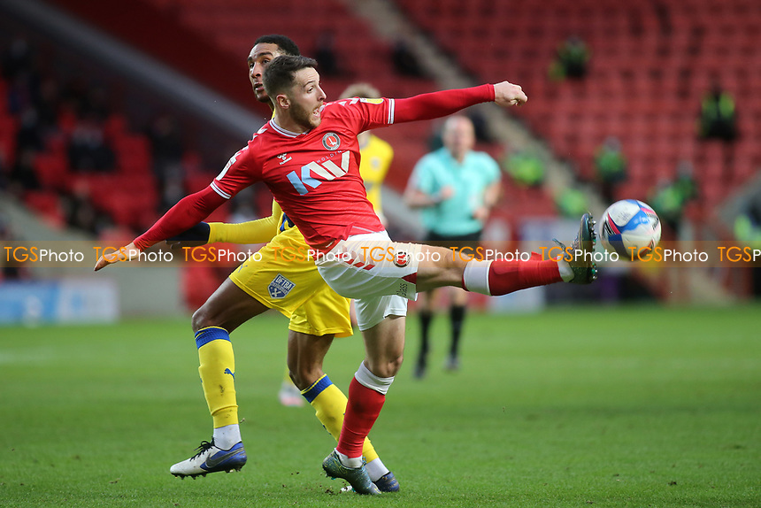Conor Washington of Charlton Athletic in action during Charlton Athletic vs AFC Wimbledon, Sky Bet EFL League 1 Football at The Valley on 12th December 2020