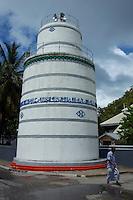 Munnaaru cylindrical minaret near Hukuru Miskiiy (former Friday Mosque), Malé, Maldives.