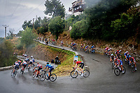 29th August 2020, Nice, France;  Illustration picture of the peloton during stage 1 of the 107th edition of the 2020 Tour de France cycling race, a stage of 156 kms with start in Nice Moyen Pays and finish in Nice