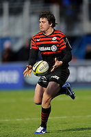 20130127 Copyright onEdition 2013©.Free for editorial use image, please credit: onEdition..Adam Powell of Saracens in action during the LV= Cup match between Saracens and Cardiff Blues at Allianz Park on Sunday 27th January 2013 (Photo by Rob Munro)..For press contacts contact: Sam Feasey at brandRapport on M: +44 (0)7717 757114 E: SFeasey@brand-rapport.com..If you require a higher resolution image or you have any other onEdition photographic enquiries, please contact onEdition on 0845 900 2 900 or email info@onEdition.com.This image is copyright onEdition 2013©..This image has been supplied by onEdition and must be credited onEdition. The author is asserting his full Moral rights in relation to the publication of this image. Rights for onward transmission of any image or file is not granted or implied. Changing or deleting Copyright information is illegal as specified in the Copyright, Design and Patents Act 1988. If you are in any way unsure of your right to publish this image please contact onEdition on 0845 900 2 900 or email info@onEdition.com
