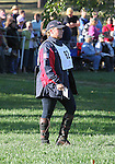 Rebecca Holder of the USA walks the cross country course before the cross country phase of the FEI  World Eventing Championship at the Alltech World Equestrian Games in Lexington, Kentucky.