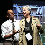 """Royston Scott and Colleen O'Neill from the Cast of """"Tony Stinkmetal's SlashR""""on September 14, 2018 at the Gene Frankel Theatre in New York City."""