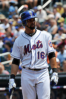New York Mets outfielder Angel Pagan #16 during a game against the St. Louis Cardinals at Citi Field on July 21, 2011 in Queens, NY.  Cardinals defeated Mets 6-2.  Tomasso DeRosa/Four Seam Images