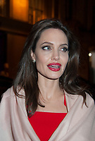 January 30 2018 PARIS FRANCE<br /> Actress Angelina Jolie leaves the Guerlain Store in Champs Elysees Paris.