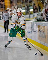 9 February 2019: University of Vermont Catamount Forward Liam Coughlin, a Senior from South Boston, MA, in second period action against the University of New Hampshire Wildcats at Gutterson Fieldhouse in Burlington, Vermont. The Catamounts defeated the Wildcats 4-1 to split their 2-game weekend Hockey East Series. Mandatory Credit: Ed Wolfstein Photo *** RAW (NEF) Image File Available ***